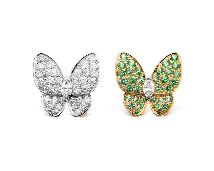 Серьги Van Cleef Arpels коллекция Fauna Two Butterfly  арт. VC-70440