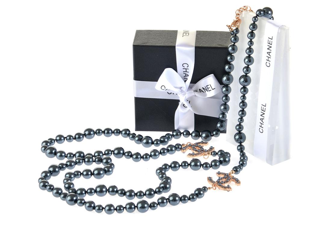 Жемчужное ожерелье Шанель арт. CH-35421