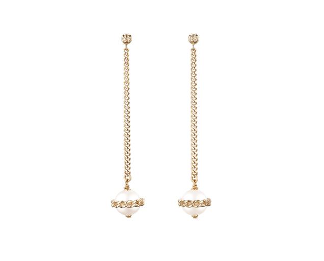 Серьги Chanel, ключик Tiffany, кольцо с кристаллами Swarowski арт. CH-119389
