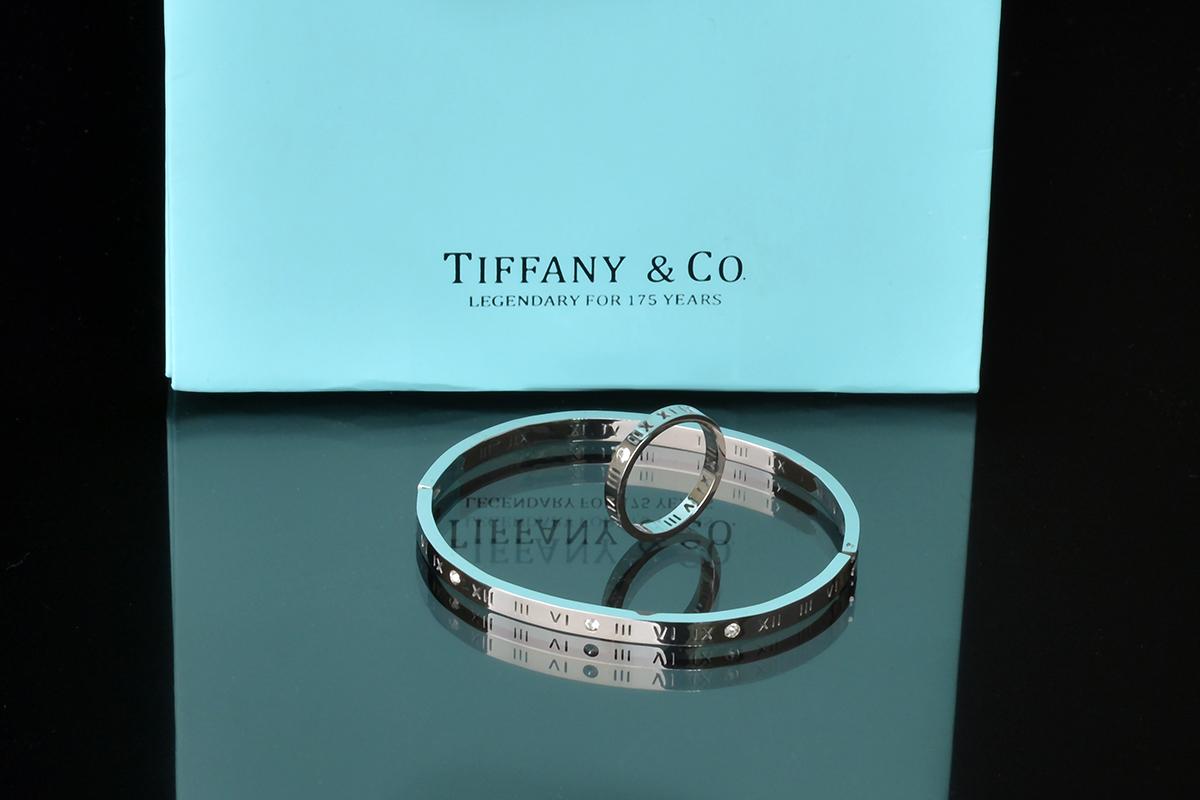 Браслет и кольцо Atlas Tiffany с художественной перфорацией арт. TF-26779