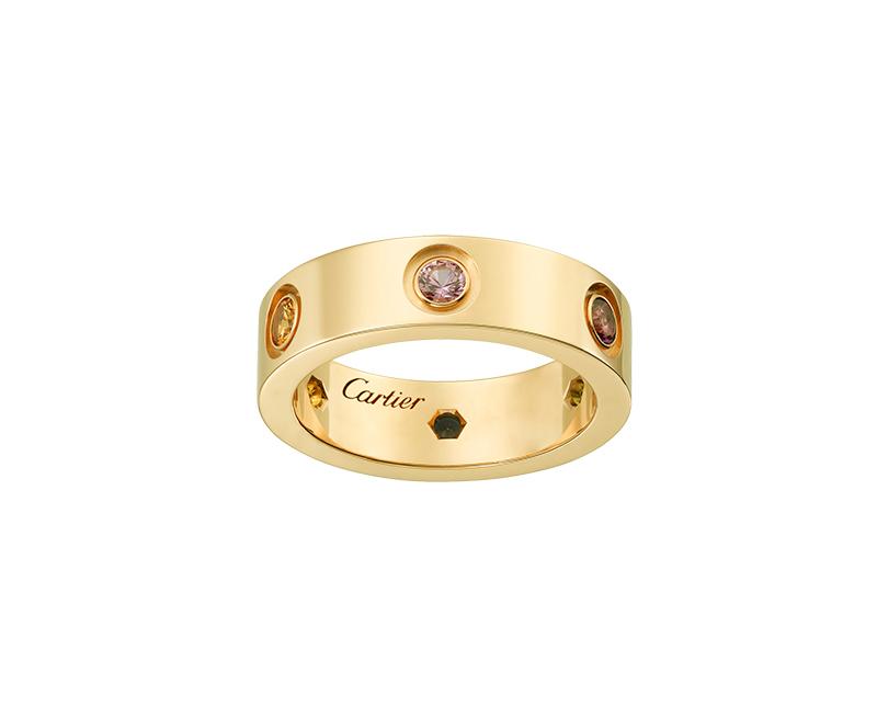 Кольцо Картье Love, цвета желтого золота CR-15470