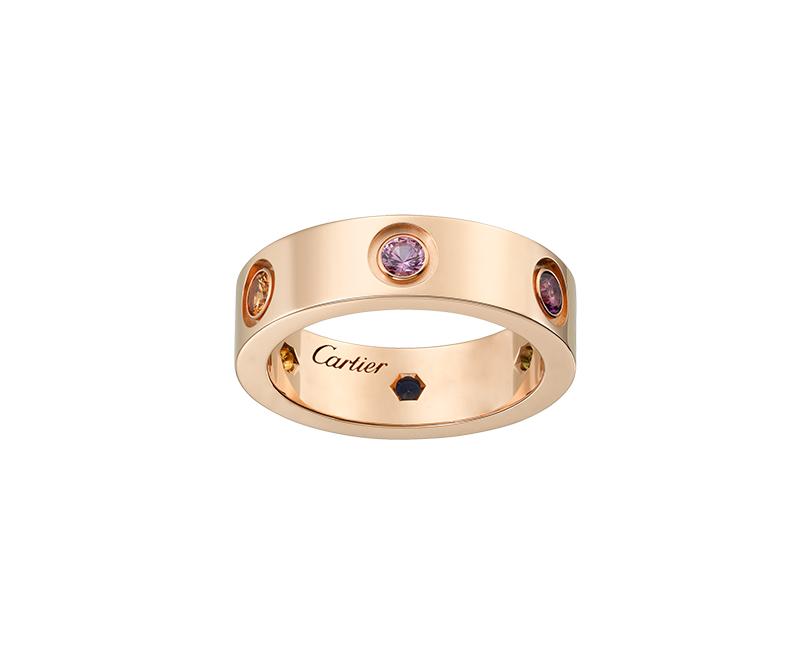 Кольцо Картье Love, цвета розового золота CR-15469