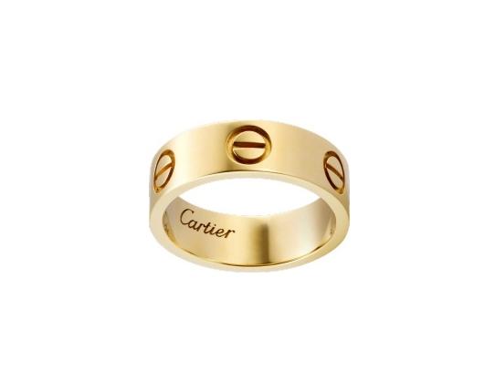 Кольцо Картье Love, цвета желтого золота CR-08486
