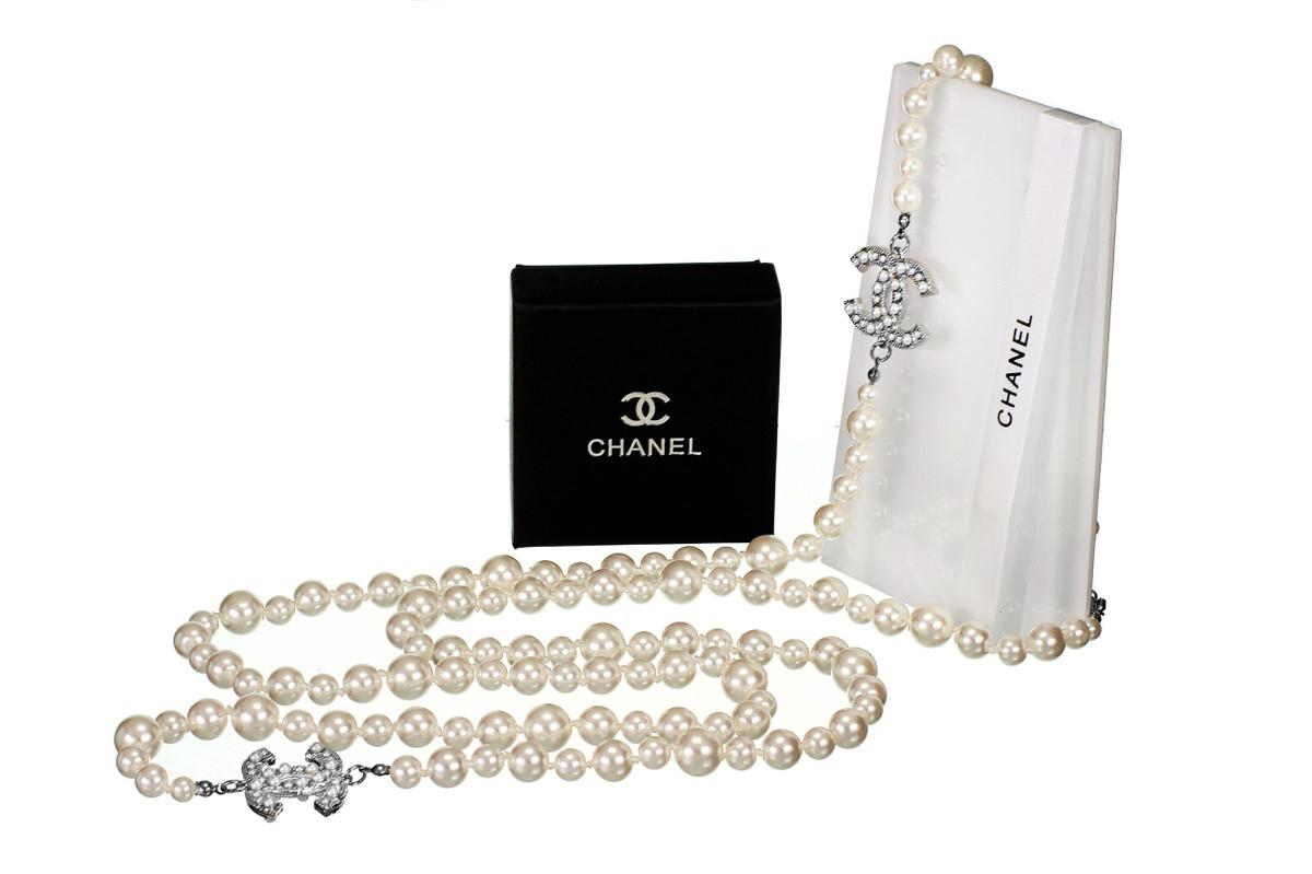 Жемчужное ожерелье Шанель арт. CH-35379