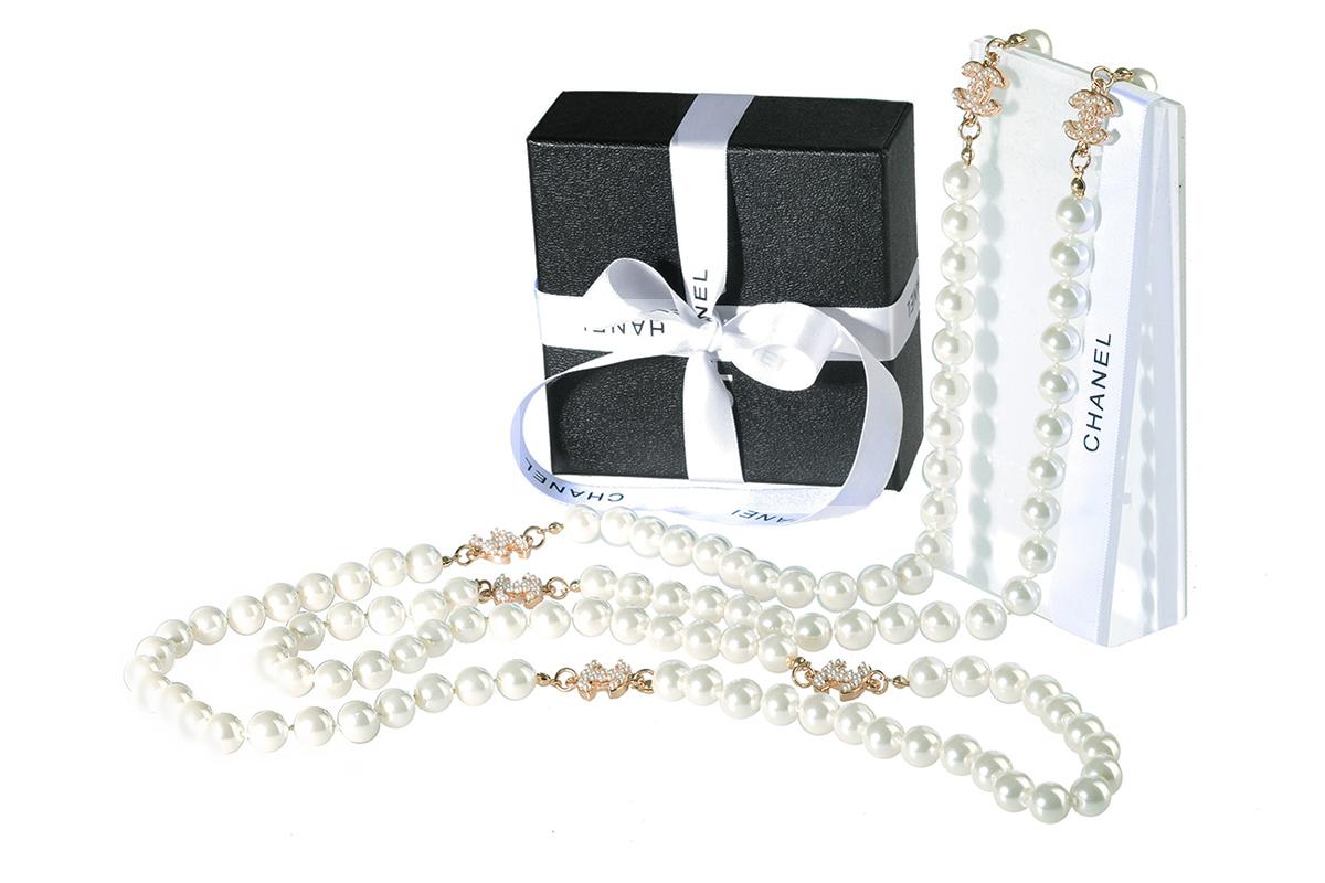 Жемчужное ожерелье Шанель арт. CH-28414