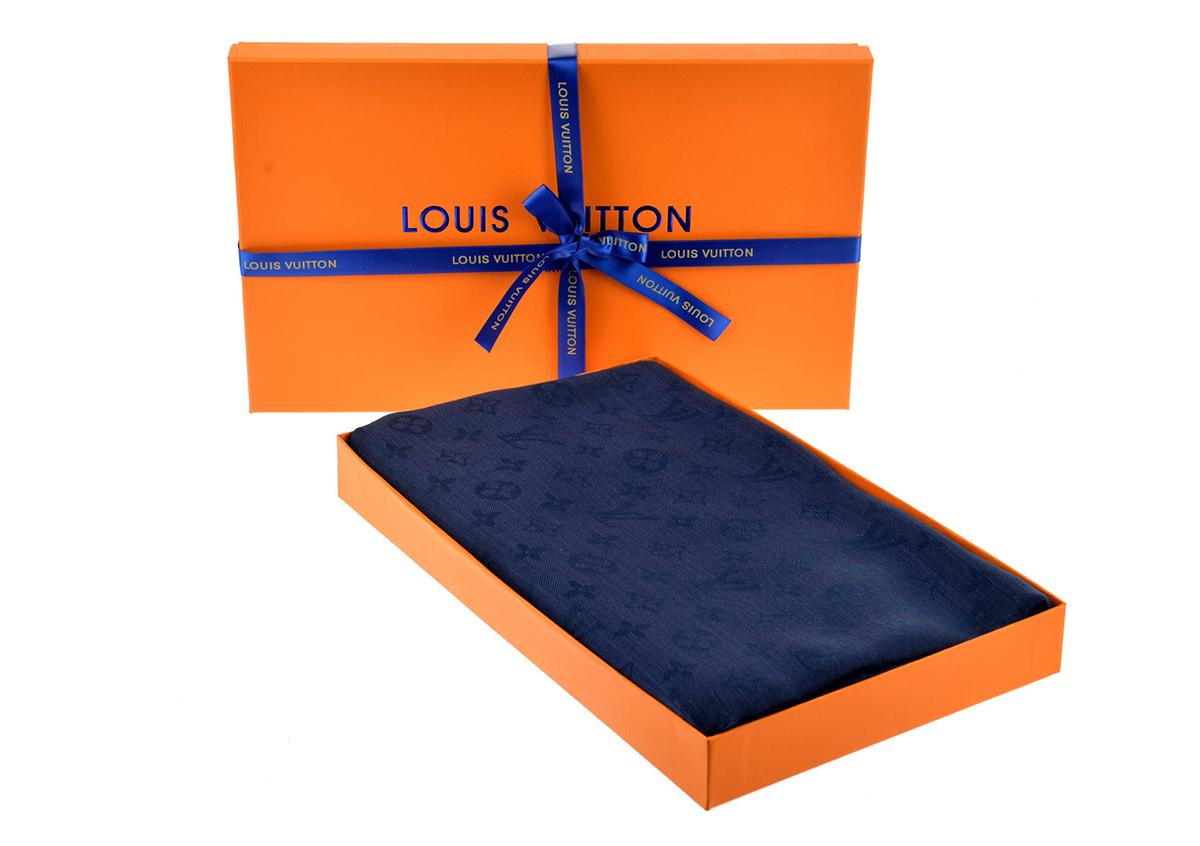 Платок шаль MONOGRAM Louis Vuitton (темно-синий) арт. PLV-35578