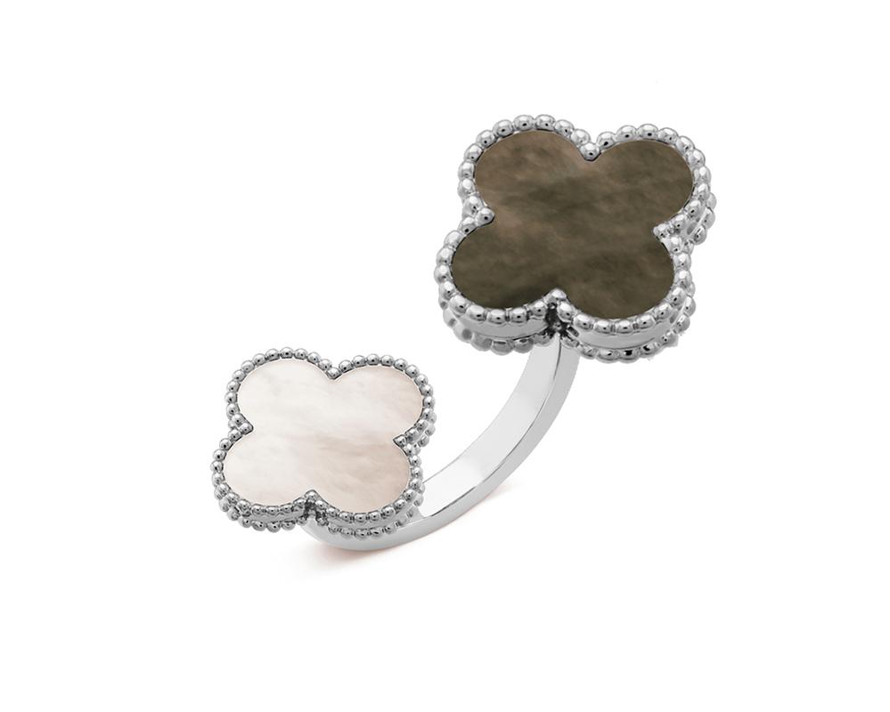 Кольцо Van Cleef Arpels на два пальца Magic Alhambra арт. VC-25380