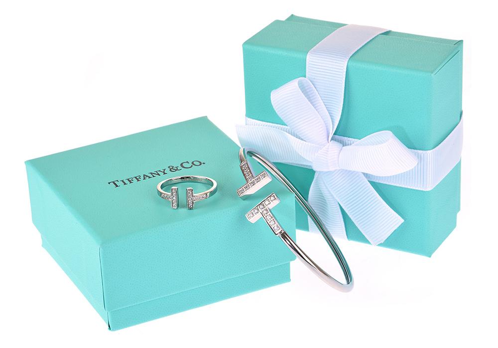 Браслет и кольцо Tiffany T Wire арт. TF-45805
